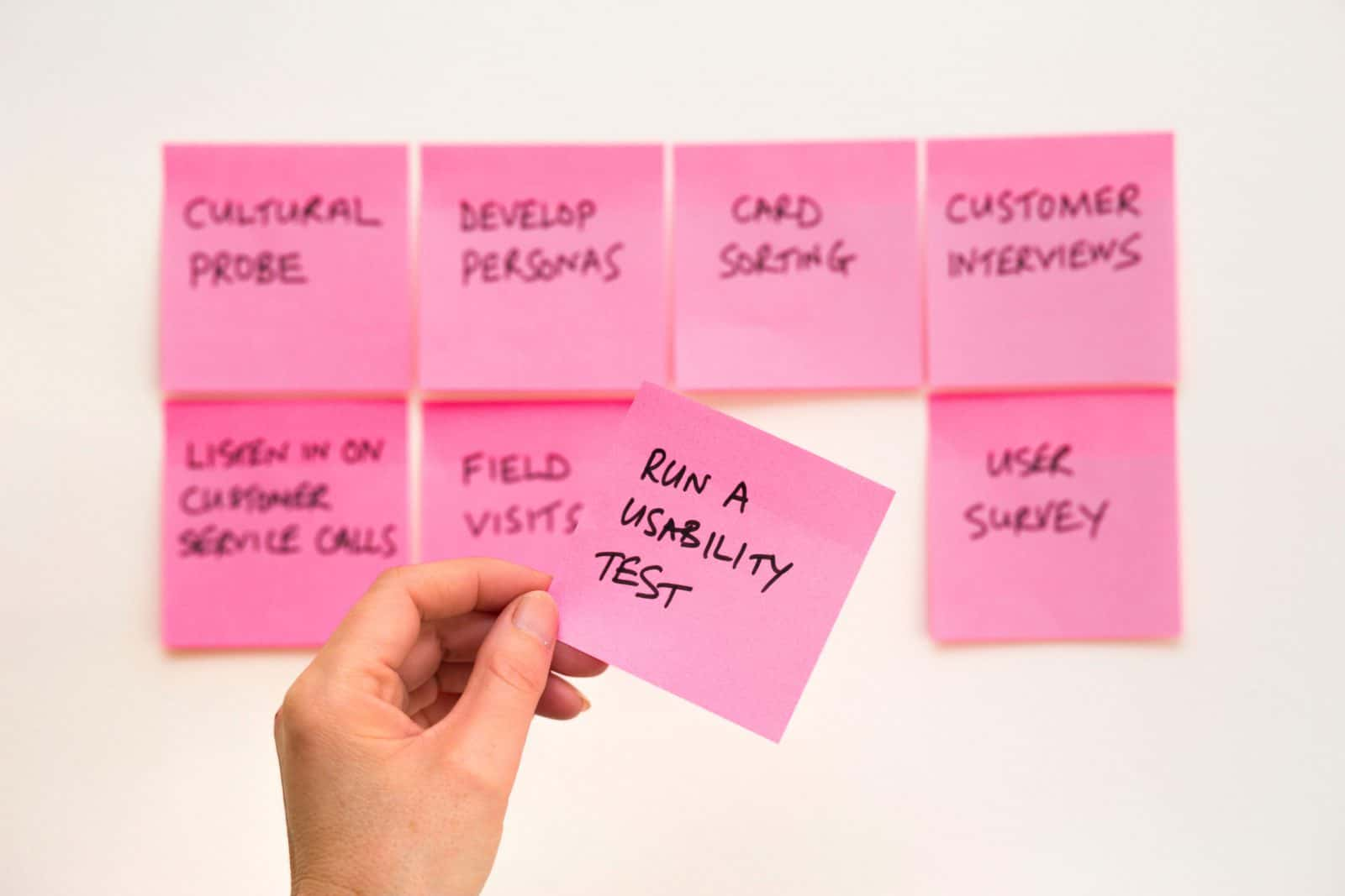 Pink Post-its